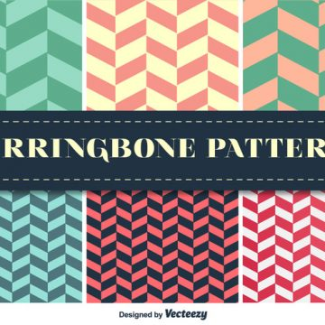 Free vector Herringbone Pattern Vector Set #24245