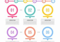 Free vector Infographic template with circles and cute style #24104