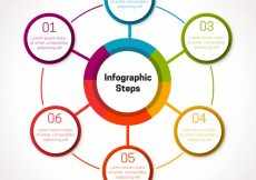 Free vector Infographic template with circles #24162