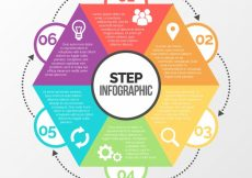Free vector Infographic template with geometric shape #24158