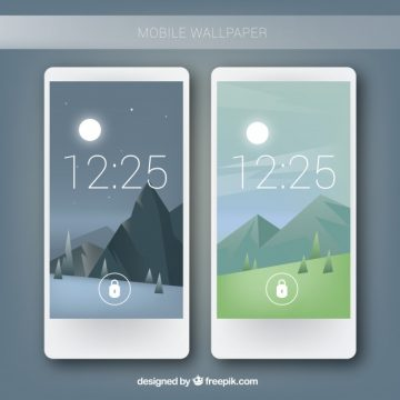 Free vector Mobile landscape background #24178