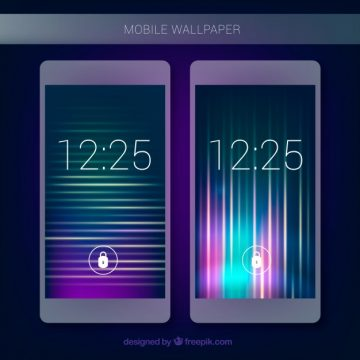 Free vector Mobile lights background #24184