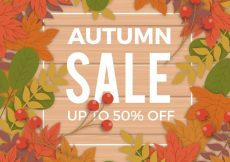 Free vector Modern autumn sale with flat design #23584