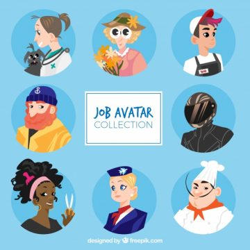 Free vector Modern cartoon avatars collection #24307