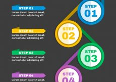 Free vector Modern infographic template with colorful circles #24106