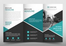 Free vector Modern trifold leaflet template #23434