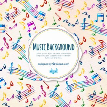 Free vector Musical background of colors with staves #23570