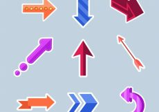 Free vector Pack of arrows in flat design #24276