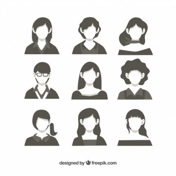 Free vector Pack of female avatars #24355