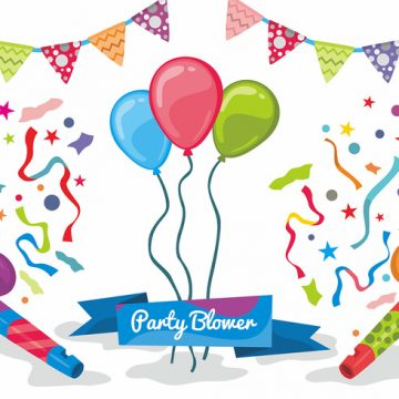 Free vector Party Blower Vector Design #23329