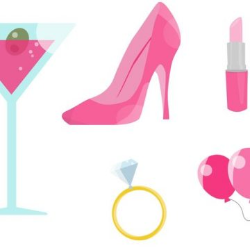 Free vector Pink Bachelorette Party Vectors #23629