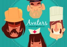 Free vector Professions avatars with artistic style #24301