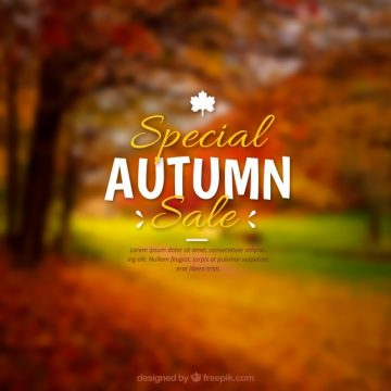 Free vector Realistic autumn sale with blurred effect #23718