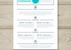 Free vector Resume template #24116