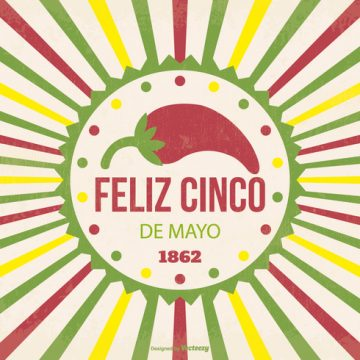 Free vector Retro Cinco de Mayo Illustration #23561