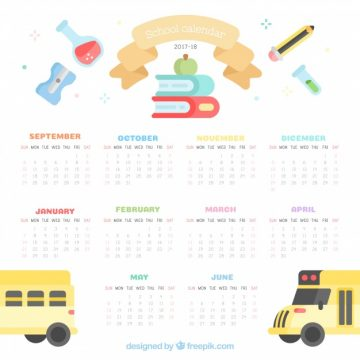 Free vector School calendar, cute style #23630