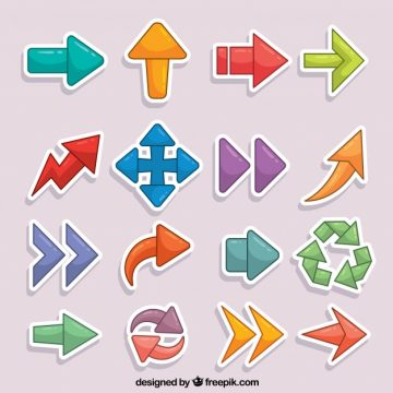 Free vector Set of hand drawn arrow stickers #23328