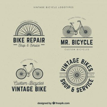 Free vector Set of vintage bicycle logos #23564