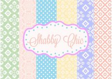 Free vector Shabby Chic Patterns #24225
