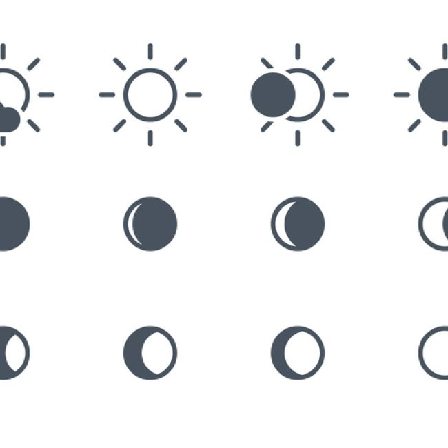 Free vector Solar And Moon Icons #23471