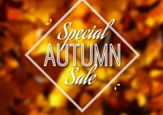 Free vector Special autumn sale with blurred style #23716