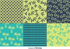 Free vector Spring and Summer Beach Pattern Vectors #24045