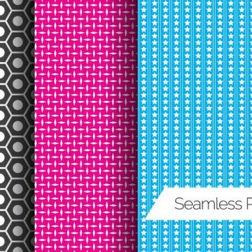 Free vector Three Seamless Pattern Vectors #24280