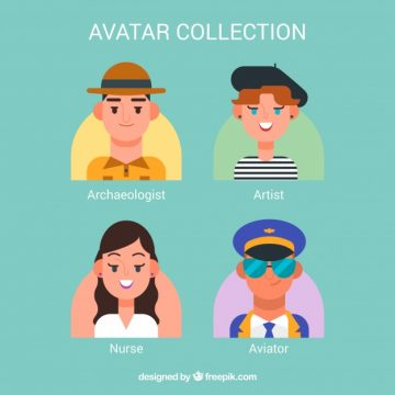 Free vector Variety of professional workers avatars #24379