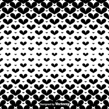 Free vector Vector Black Hearts Seamless Pattern #24326