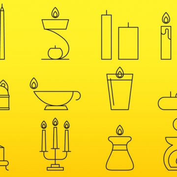Free vector Candles Line Icons #23529