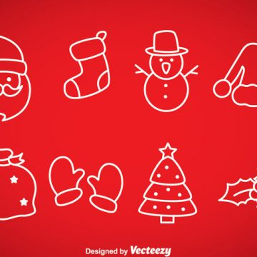 Free vector Christmas Outline Icons #23633