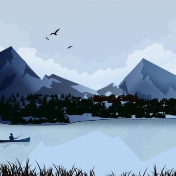 Free vector Lake Landscape #23911