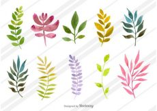 Free vector Natural Watercolored Dills #23983
