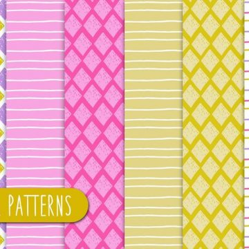 Free vector Romboide Pattern Set #24378