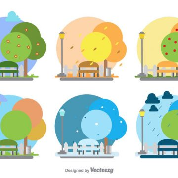 Free vector Seasonal Park Illustration #24021