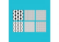 Free vector Simple B&W Patterns 2 #24386