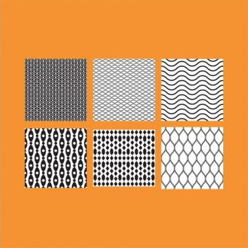 Free vector Simple B&W Patterns 5 #24239