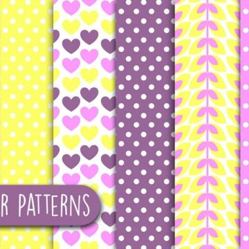 Free vector Soft Love Patterns #24215