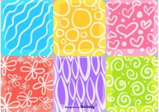 Free vector Summer and Spring Mosaic Patterns #24290