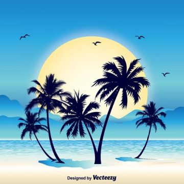 Free vector Tropical Scene Illustration #23891
