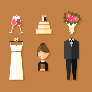 Free vector Vector Wedding Icons #23645
