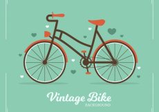 Free vector Vintage bicycle background in flat design #23752