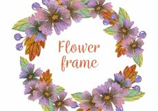 Free vector Vintage watercolor flower frame #23368