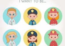 Free vector Workers avatars pack with children #24230