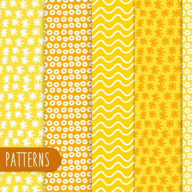 Free vector Yellow Abstract Patterns #24392