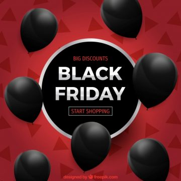 Free vector Black friday design with seven balloons #24452